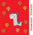 happy horse | Shutterstock .eps vector #55936105