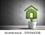 green plant in pot shaped like... | Shutterstock . vector #559364338