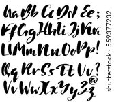 hand drawn font made by dry... | Shutterstock .eps vector #559377232
