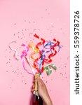 flat lay of celebration.... | Shutterstock . vector #559378726