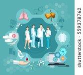 medicine infographics hospital...   Shutterstock .eps vector #559378762