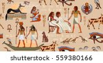 Ancient Egypt Seamless Pattern...
