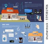 smart home infographic banner.... | Shutterstock .eps vector #559381906