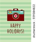 camera happy holidays greeting... | Shutterstock .eps vector #559384822