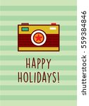 camera happy holidays greeting... | Shutterstock .eps vector #559384846