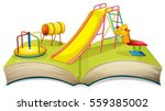Book With Playground Scene...