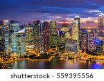 Singapore Skyline Singapores Business District - Fine Art prints