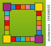 Frame Design With Colorful...