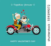 valentine's day greeting card.... | Shutterstock .eps vector #559399072