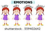 girl with four different... | Shutterstock .eps vector #559402642