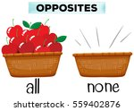 opposite words for all and none ... | Shutterstock .eps vector #559402876
