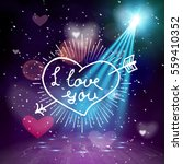 i love you hand written... | Shutterstock .eps vector #559410352