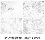grunge overlay textures... | Shutterstock .eps vector #559411906