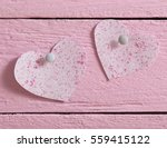 pink heart made of paper on... | Shutterstock . vector #559415122