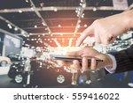 double exposure of success...   Shutterstock . vector #559416022