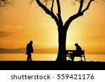 human silhouettes | Shutterstock . vector #559421176