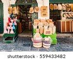 handcrafts shop at the market... | Shutterstock . vector #559433482