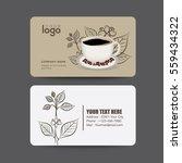 coffee card  vector | Shutterstock .eps vector #559434322