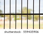 Close Up Iron Bars Or Metal...