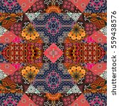 greeting card in boho style.... | Shutterstock . vector #559438576