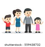 happy family color illustration ... | Shutterstock .eps vector #559438732