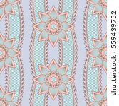 seamless asian ethnic floral... | Shutterstock .eps vector #559439752