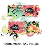 digital ink texture watercolor... | Shutterstock .eps vector #559441336