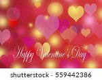 happy valentine's day  heart... | Shutterstock . vector #559442386