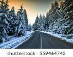 Winter Landscape With Snow...
