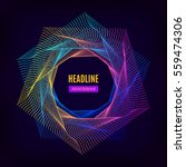 trendy abstract geometric frame ... | Shutterstock .eps vector #559474306