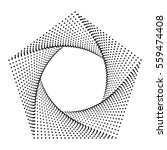 pentagon abstract dots ...   Shutterstock .eps vector #559474408