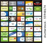 illustrated cards | Shutterstock .eps vector #55948174