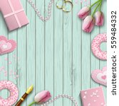 romantic background with pink... | Shutterstock .eps vector #559484332