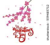 valentines day party poster... | Shutterstock .eps vector #559485712