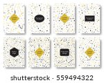 set of geometric backgrounds... | Shutterstock . vector #559494322