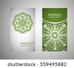 flyer  leaflet cover mandala ... | Shutterstock .eps vector #559495882