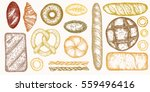 set of hand drawn detailed... | Shutterstock .eps vector #559496416