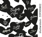 greeting card with love quotes... | Shutterstock .eps vector #559500802