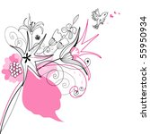 romantic floral composition   Shutterstock .eps vector #55950934
