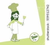 chef cartoon retro | Shutterstock . vector #559512742