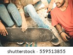 group of multiracial friends... | Shutterstock . vector #559513855