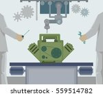 production line with people.... | Shutterstock .eps vector #559514782