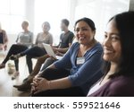 people meeting seminar office... | Shutterstock . vector #559521646