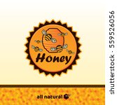 honey badge and label. abstract ... | Shutterstock .eps vector #559526056