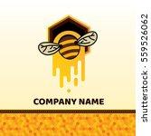 bee badge and label. honey... | Shutterstock .eps vector #559526062