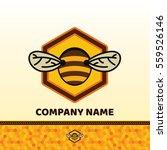 bee badge and label. honey... | Shutterstock .eps vector #559526146