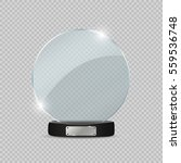 glass trophy award. vector... | Shutterstock .eps vector #559536748