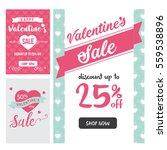 modern valentine sale banner... | Shutterstock .eps vector #559538896
