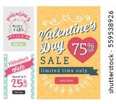 modern valentine sale banner... | Shutterstock .eps vector #559538926