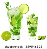 mojito isolated on white... | Shutterstock . vector #559546525